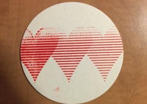 Letterpress coaster @ The Workshop