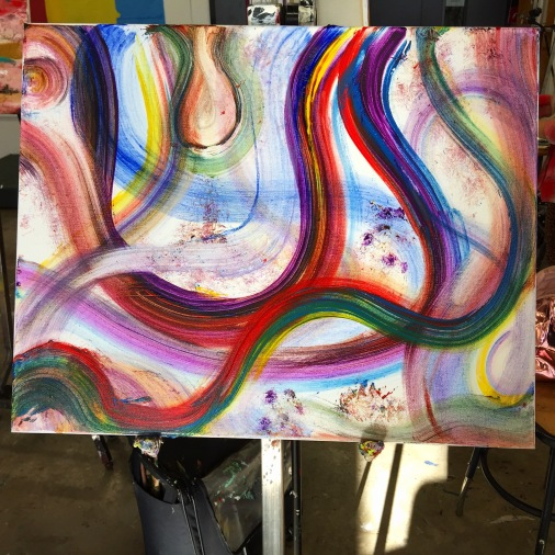 abstract, brush, painting