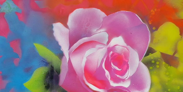 flowers, rose, painting