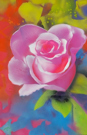 rose, painting, full