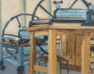 painting, oil, vintage