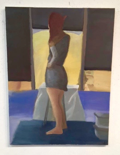 woman, painting,