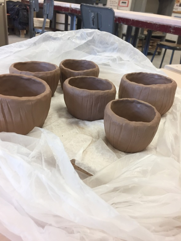 Outside View of my Pinch Pots