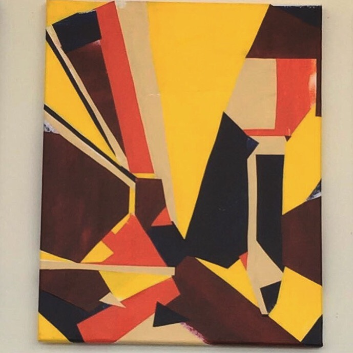 Collage Abstract Painting