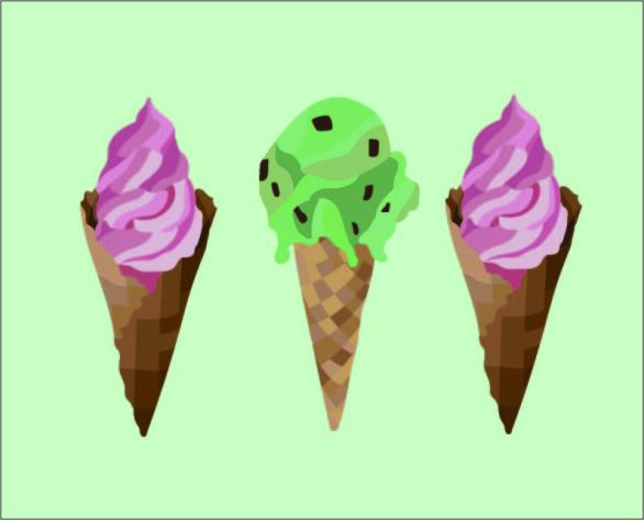 graphic design, digital, art, cones, ice cream