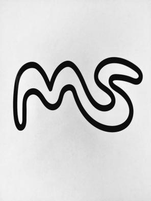 initial, graphic design, line, black, white