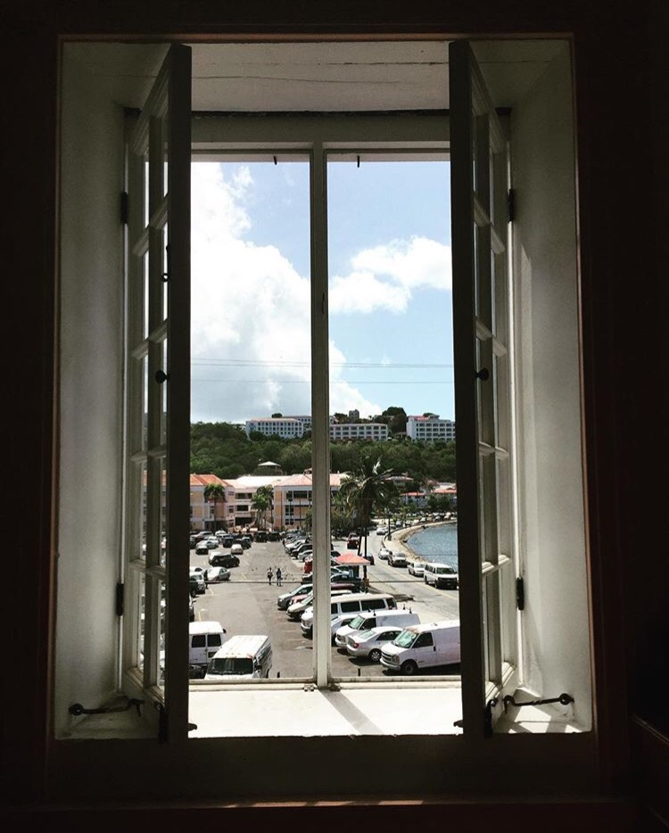 This is an image that I took from the meeting room in the Fort Christian museum on St. Thomas US Virgin Islands.