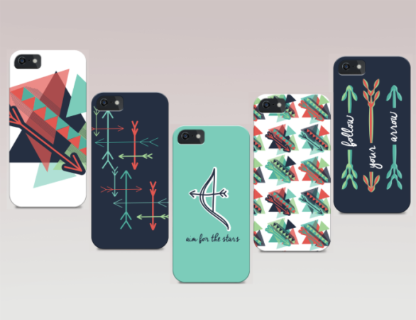 graphic design, digital, art, phone, cases, arrows