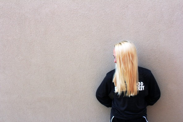 photo, image, wall, blonde, girl, student