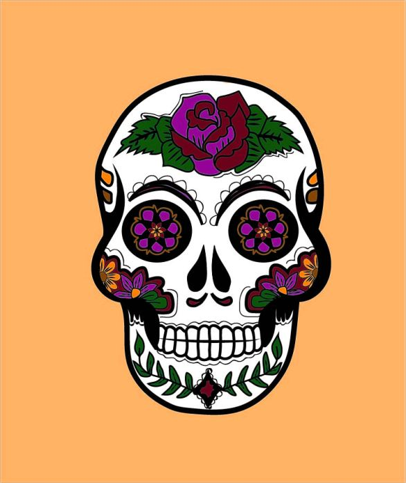 graphic design, digital, art, skull, design, illustration