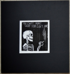 skeleton, black, white, print
