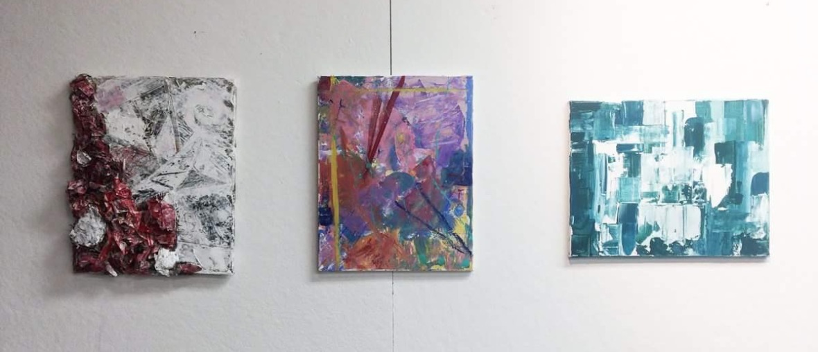 Three Non-objective paintings
