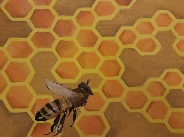 Painting of a bee