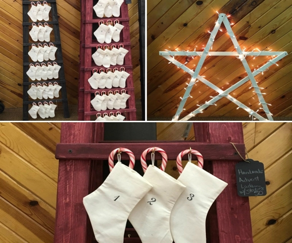 advent ladders and christmas star