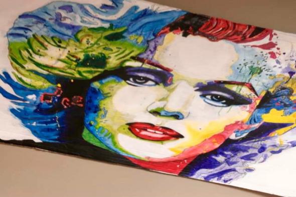 marilyn monroe painting in multicolor