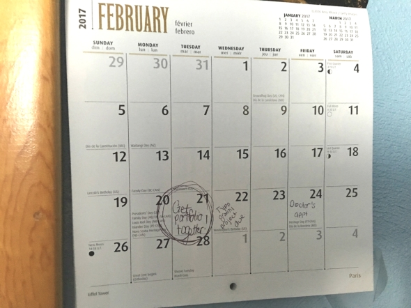 calendar for february with dates circled