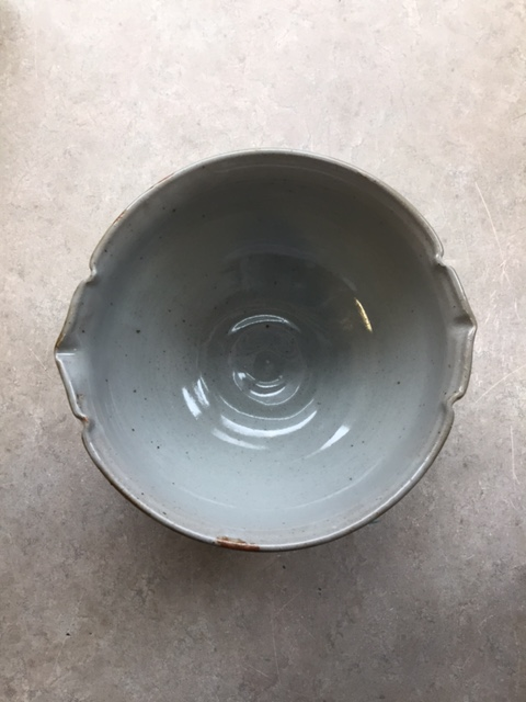 overhead view of serving bowl