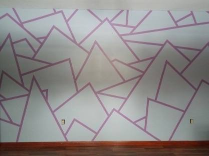 wall with geometric design