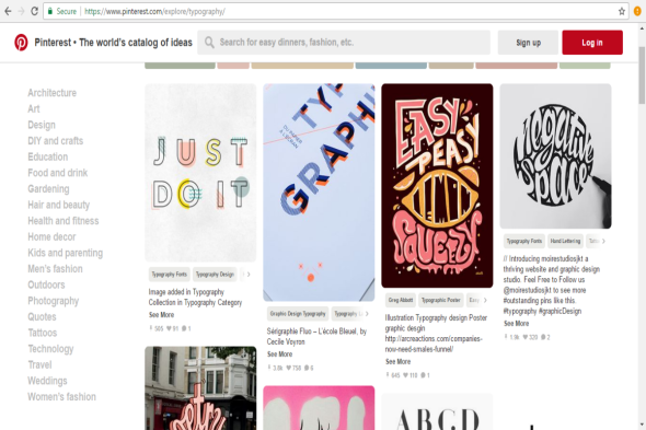 pinterest post page