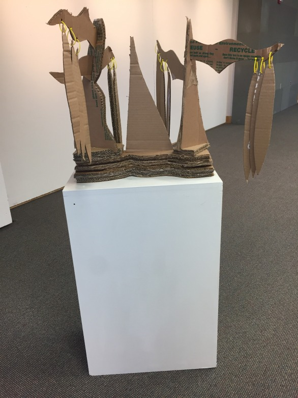 Front of Stoppage Sculpture
