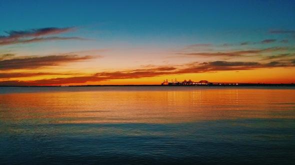 Sunset over the Chesapeake Bay Bridge