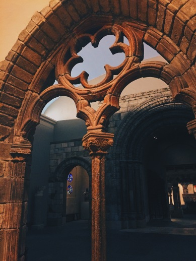 Inside decorative museum archway