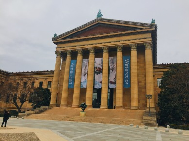 Outside view of the Philadelphia Museum of Art Entrance