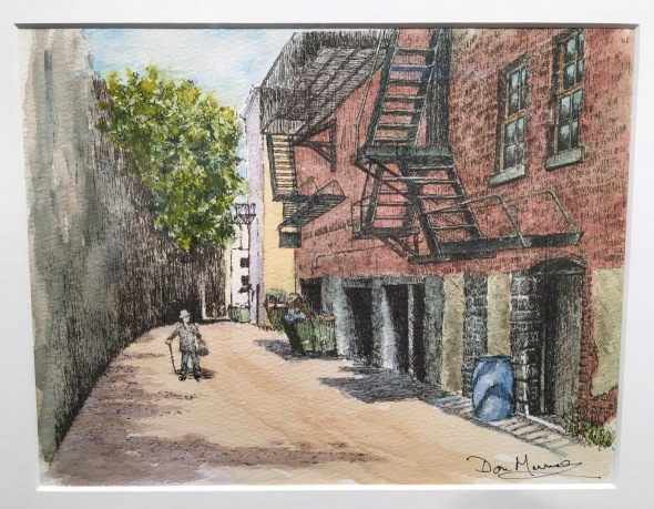watercolor street painting