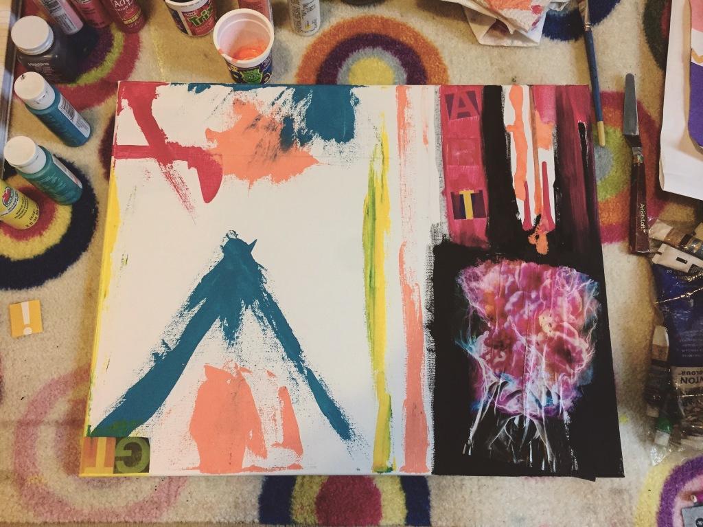 Robert Rauschenberg Inspired Painting