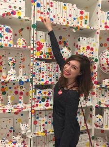 Amanda working in gallery