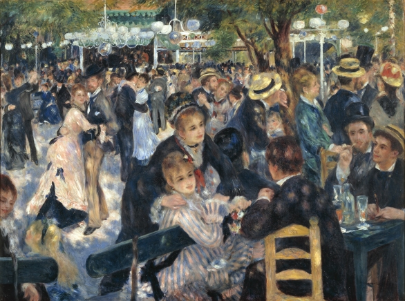 Dance at Moulin de la Galette, Pierre-Auguste Renoir