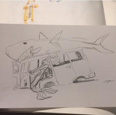 mermaid drawingsketch