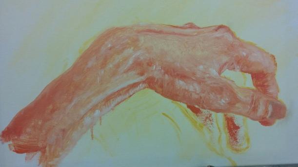 hand study painting