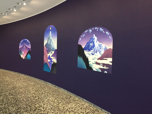 sunrise on purple walls