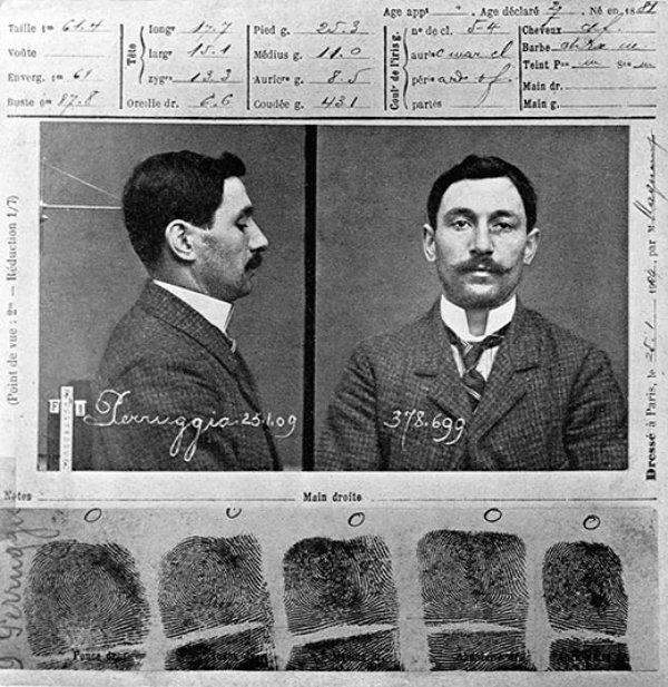 Vincenzo Peruggia's Police Record