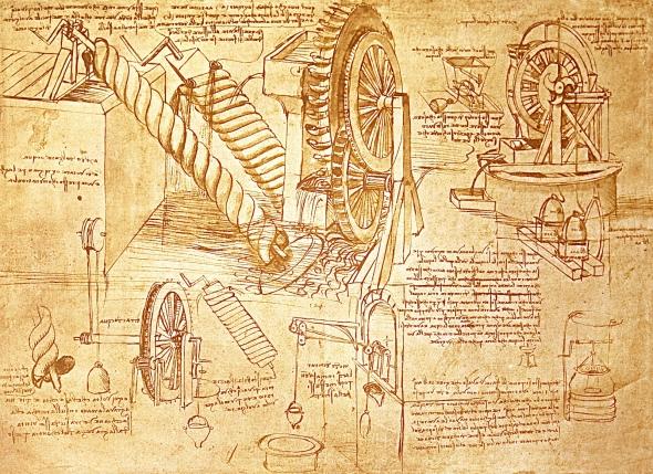 Leo Da Vincis Sketchbook Page