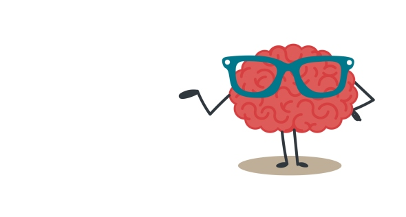 Brain with glasses