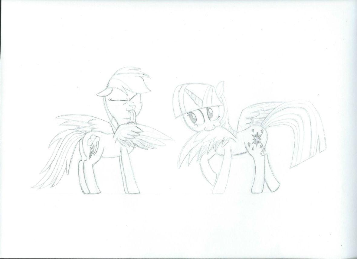 Preening Ponies (sketch)