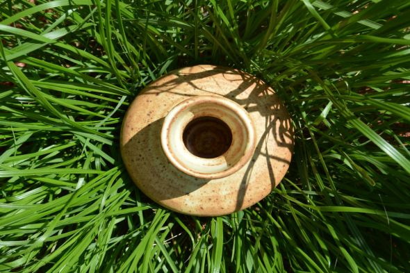 Ceramic Vase in long grass