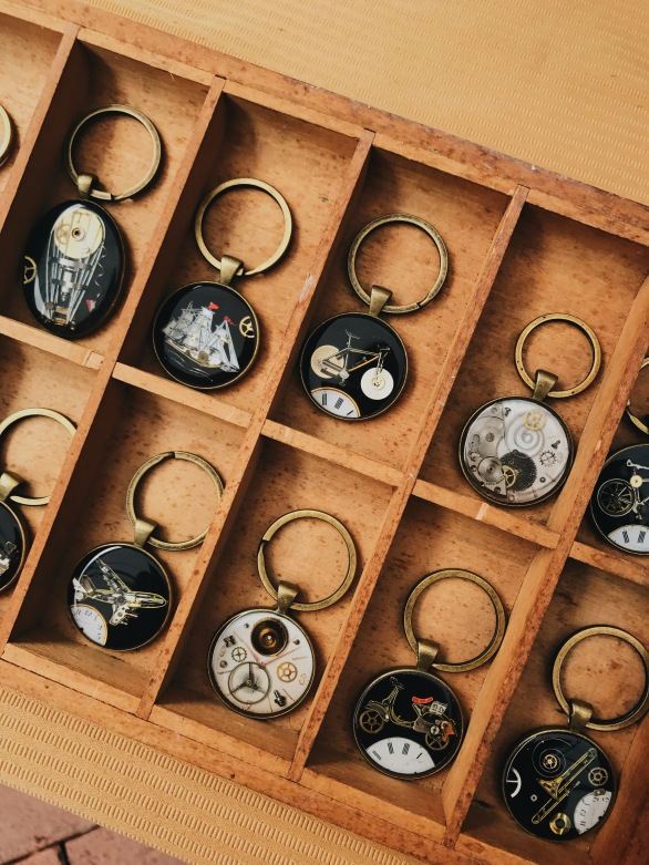 keychains made with watch parts