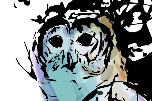 Close up of Owl Art