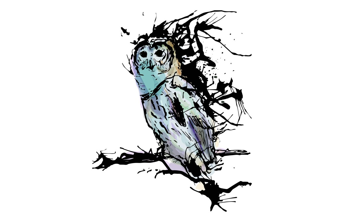 Painted Owl Art