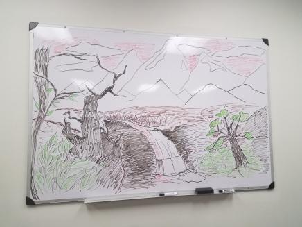 Chalkboard drawing