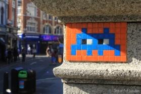 orange and blue alien art