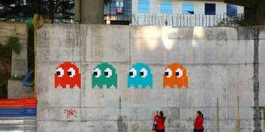 pacman street art