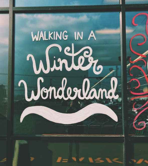 walking in a winter wonderland design text