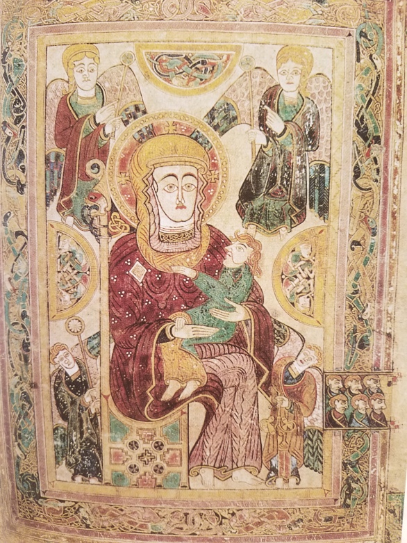 Book of kells- virgin and child