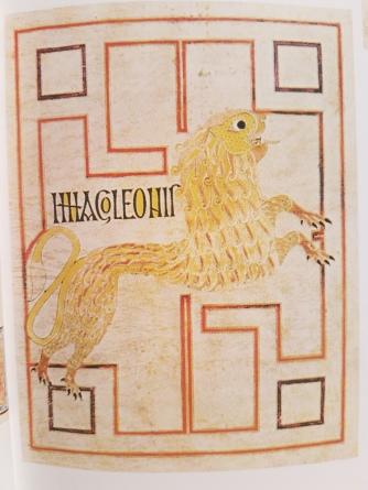 Echternach Gospels - symbol of saint Mark