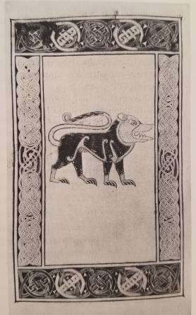 Book of Durrow- Evangelist symbol of saint Mark