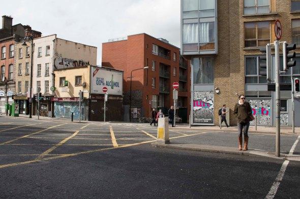 Crossing the Street in Dublin